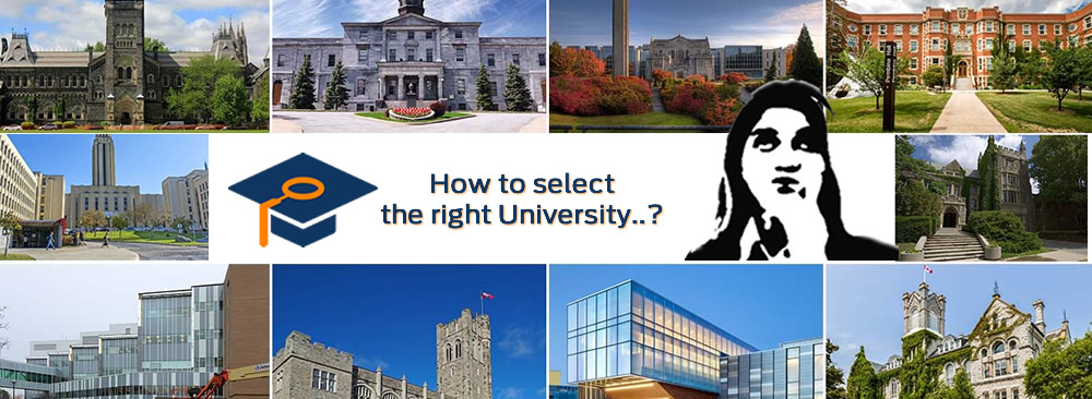 How to select the right University..?